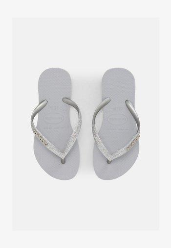 GLITTER II - T-bar sandals - ice grey