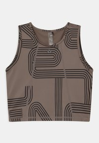 ONLY Play - ONPJOYA CROP - Top - deep taupe/black - 0