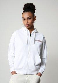 Napapijri - BILEA  - Zip-up hoodie - bright white - 0