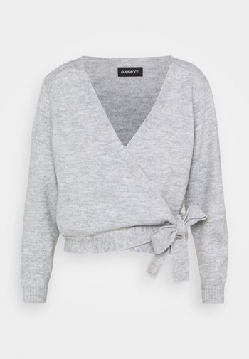 Cardigan - mottled light grey