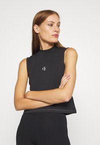 Calvin Klein Jeans - SLEEVELESS MOCK NECK - Top - ck black - 3