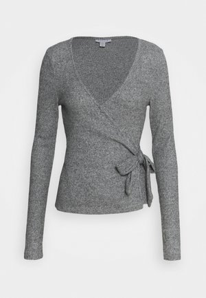 BRUSHED BALLET WRAP - Pullover - grey