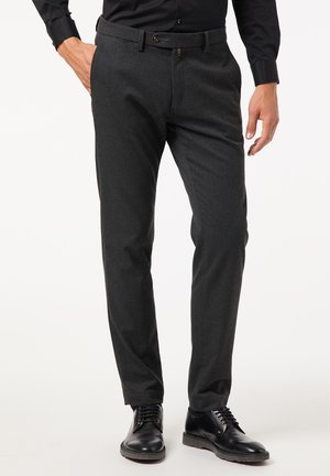 MODERN FIT LYON VOYAGE - Trousers - anthrazit
