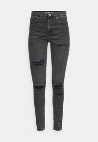 Topshop - SRIP JAMIE - Jeans Skinny Fit - washed black - 4