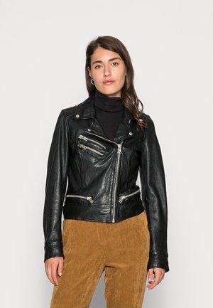 REALITY - Leather jacket - black