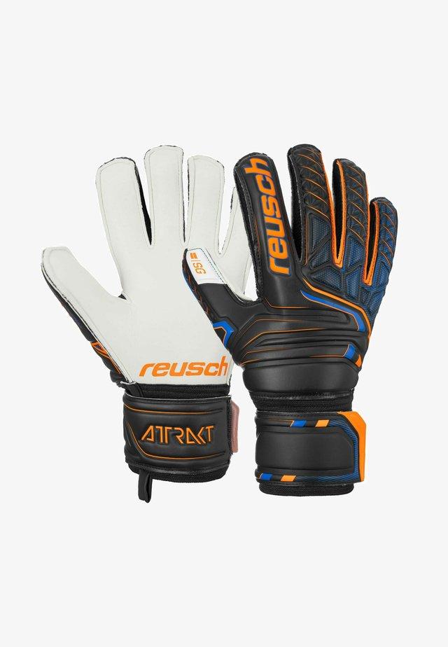 ATTRAKT SG FINGER SUPPORT - Gloves - black/shocking orange