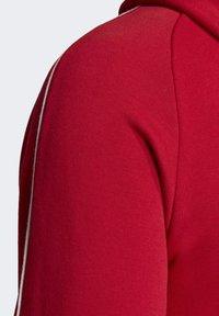 adidas Performance - CORE 19 HOODIE - Huvtröja med dragkedja - red - 7