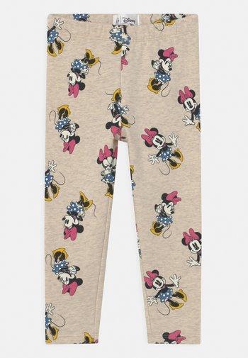 DISNEY MINNIE MOUSE  - Leggings - Trousers - mottled beige