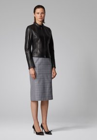 BOSS - SAFLAMA - Leather jacket - black - 1