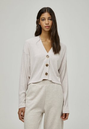 Cardigan - mottled beige