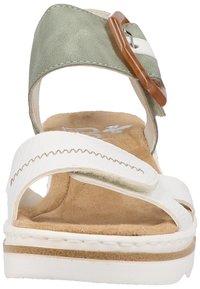 Rieker - Platform sandals - white - 5