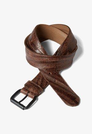TOM TAILOR DENIM BELTS LEDERGÜRTEL IM USED-LOOK - Belt - brown