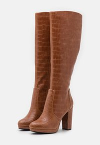 Buffalo - MARIE - High heeled boots - cognac - 2