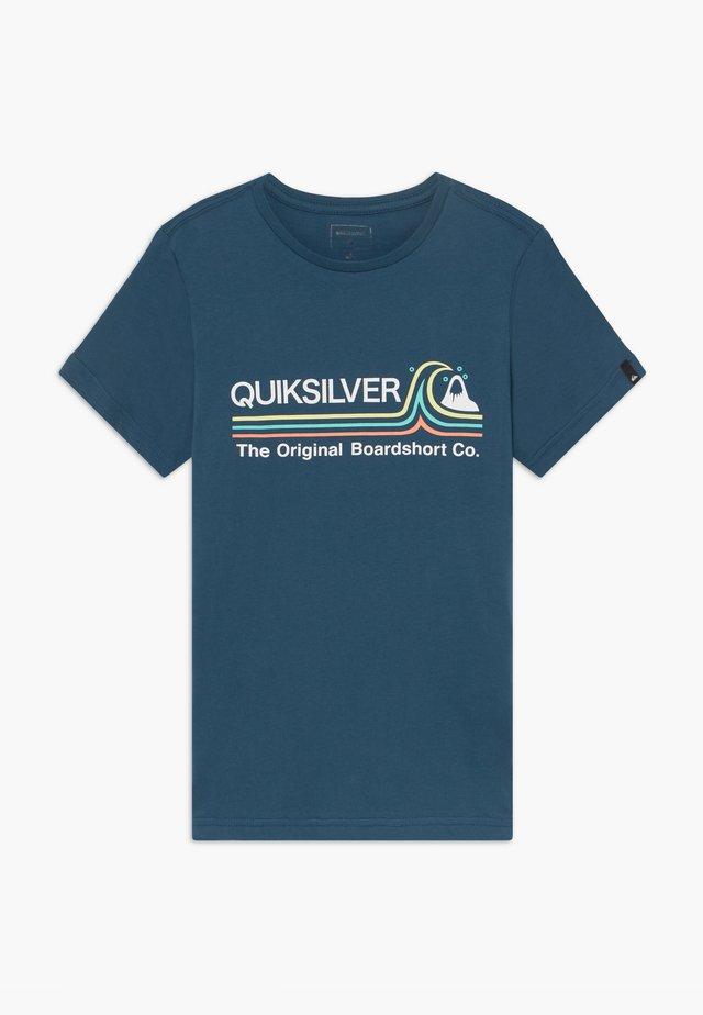 STONE COLD - T-shirt imprimé - majolica blue