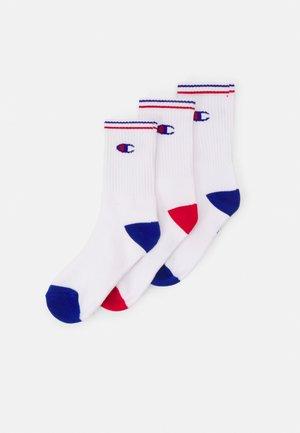 CREW SOCKS PERFORMANCE UNISEX 3 PACK - Socks - white/blue/red