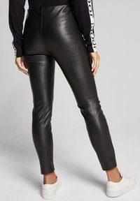 JOOP! - SARA - Leather trousers - black - 6
