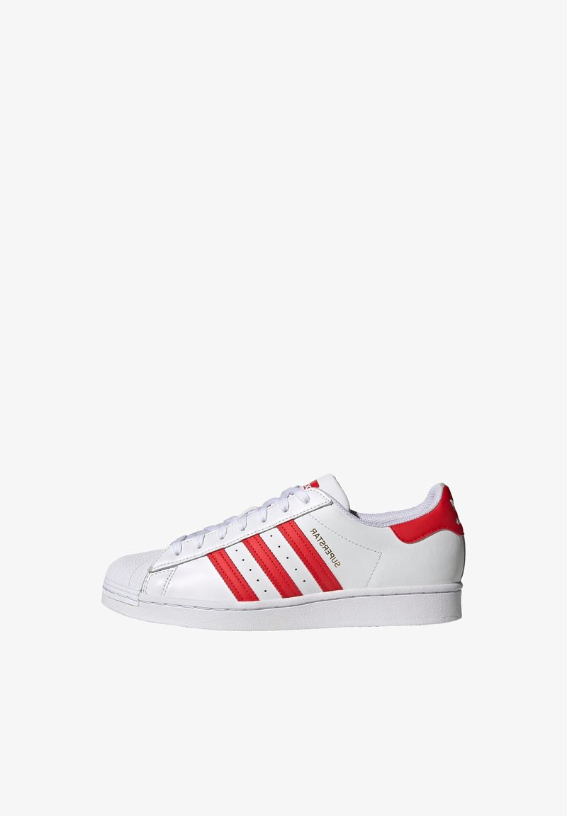 adidas Originals - SUPERSTAR UNISEX - Trainers - footwear white/vivid red/gold metallic