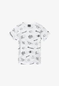 Champion - LEGACY AMERICAN CLASSICS CREWNECK - Print T-shirt - white - 2