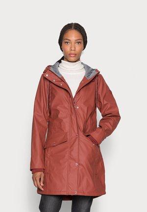 Waterproof jacket - dark maroon red