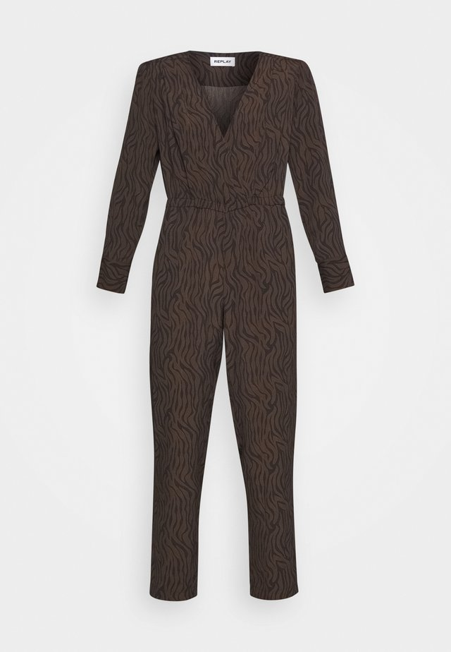 Jumpsuit - black/brown