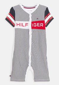 Tommy Hilfiger - BABY STRIPED SHORTALL UNISEX - Sleep suit - twilight navy - 0