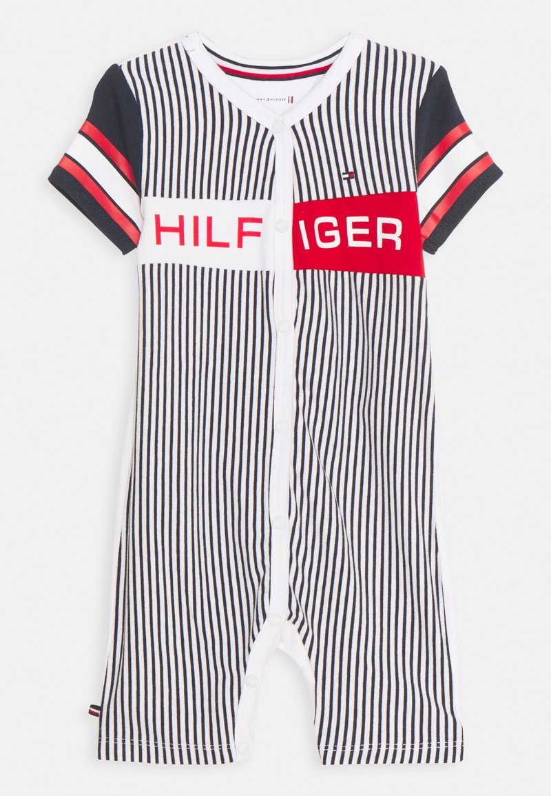 Tommy Hilfiger - BABY STRIPED SHORTALL UNISEX - Sleep suit - twilight navy