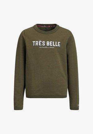 MET EMBROIDERY EN GLITTER - Sweatshirt - dark green
