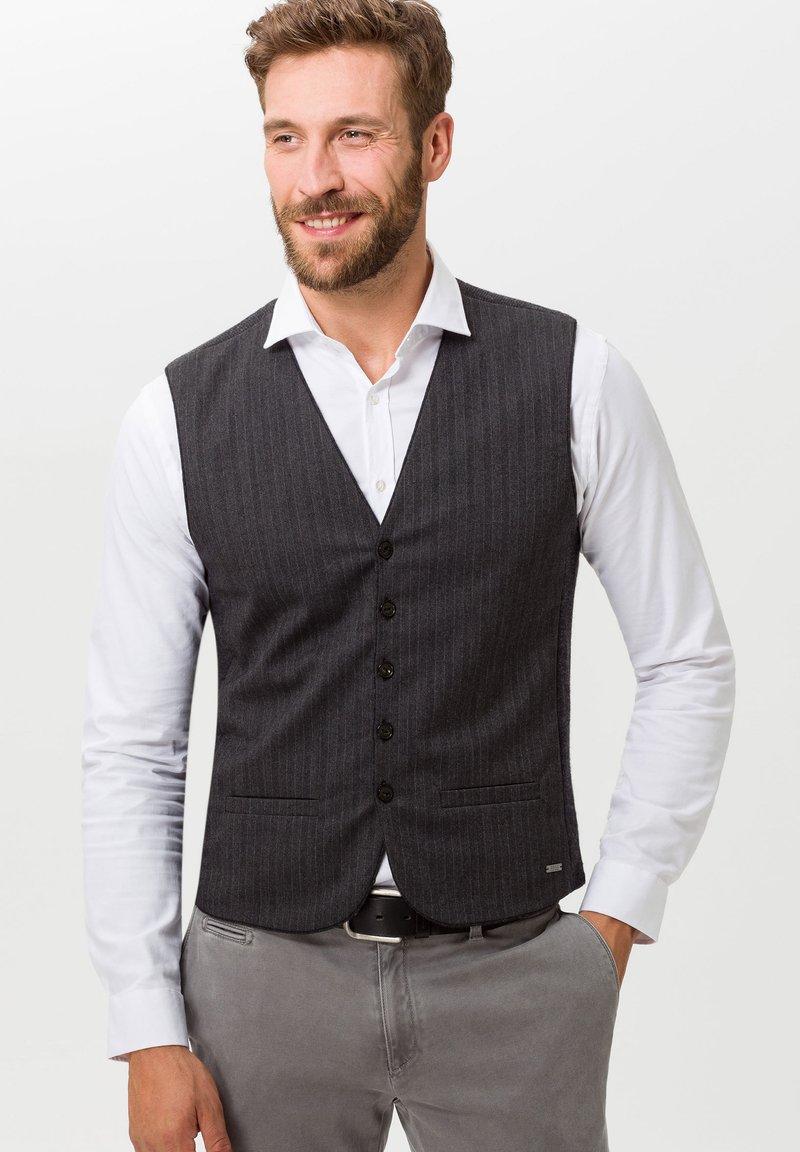 BRAX - STYLE WADE - Suit waistcoat - anthra