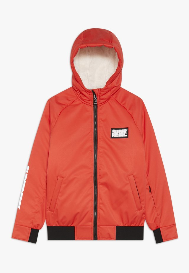 GIRLS THIN JACKET - Snowboard jacket - neon red