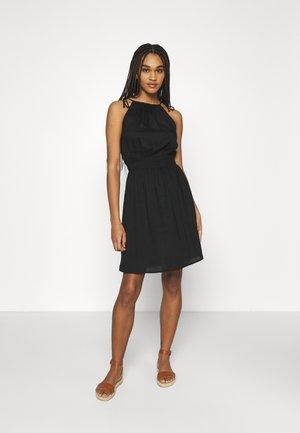 PCMANURA STRAP DRESS - Day dress - black