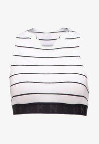 DKNY Intimates - SEAMLESS LITEWEAR HIGH NECK - Bustier - white/black - 4