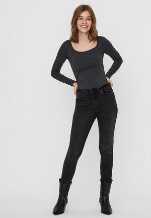 2 PACK - Long sleeved top - dark grey melange