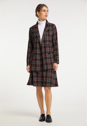 Short coat - schwarz rot grün