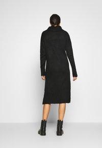 New Look - ROLL NECK DRESS - Strikket kjole - black - 2