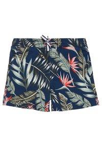Jack & Jones Junior - JJIFREE JOGGER SHORTS FLOWER - Shorts - navy blazer - 0