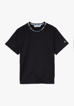 LOGO INTARSIA - Camiseta estampada - black