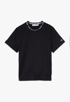 LOGO INTARSIA - Print T-shirt - black