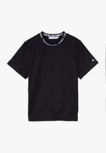LOGO INTARSIA - T-shirt z nadrukiem - black