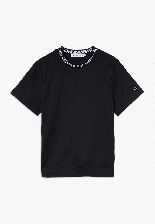 LOGO INTARSIA - T-shirts med print - black
