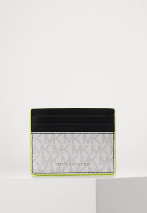 GREYSON TALL CARD CASE - Lommebok - white/neon yellow