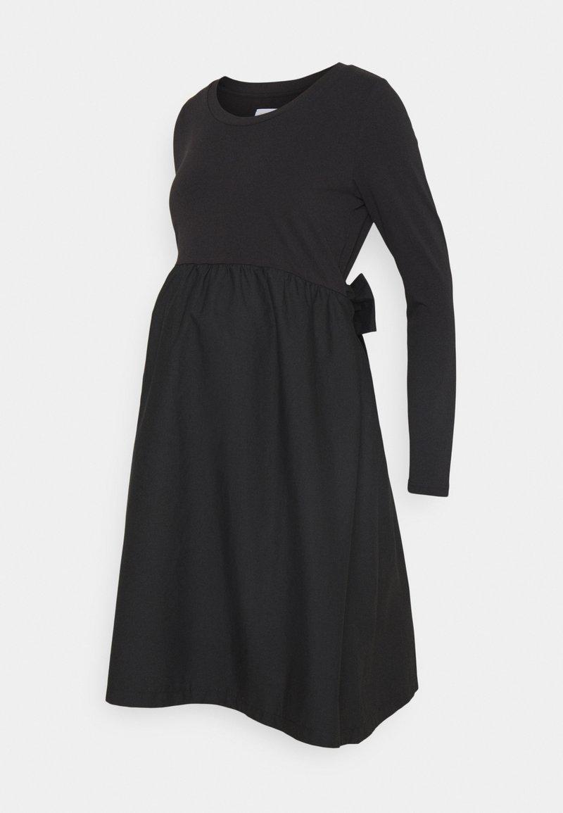 MAMALICIOUS - MLCAROLINA MIX DRESS  - Vapaa-ajan mekko - black