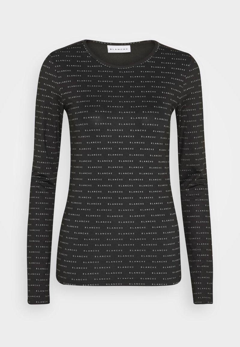 BLANCHE - COMFY LONGSLEEVE - T-shirt à manches longues - black