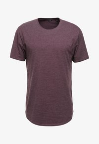 Only & Sons - ONSMATT LONGY MELANGE TEE - T-shirts - winetasting - 4
