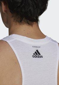 adidas Performance - RUN LOGO TANK M - Sports shirt - white - 4
