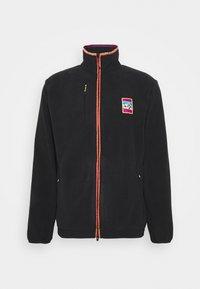SPORTS INSPIRED TRACK T - Fleece jacket - black