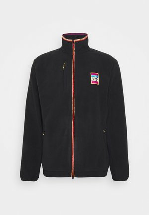 SPORTS INSPIRED TRACK T - Fleece jacket - black