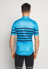ODLO - STAND UP COLLAR FULL ZIP ELEMENT - T-Shirt print - blue aster melange/estate blue - 2