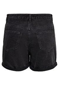 ONLY - JEANSSHORTS REGULAR FIT - Denim shorts - black - 5