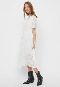Vero Moda - STICKEREI - Maxi dress - snow white - 4