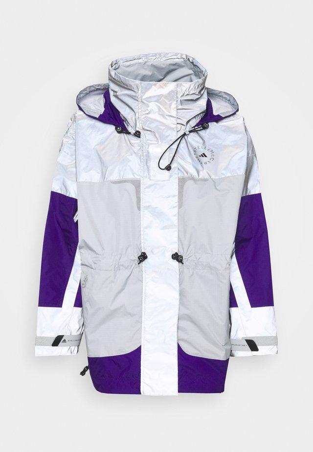 Hardshellová bunda - reflective silver/clear onix/collegiate purple